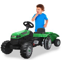 Pedal tractor with trailer Strong Bull green