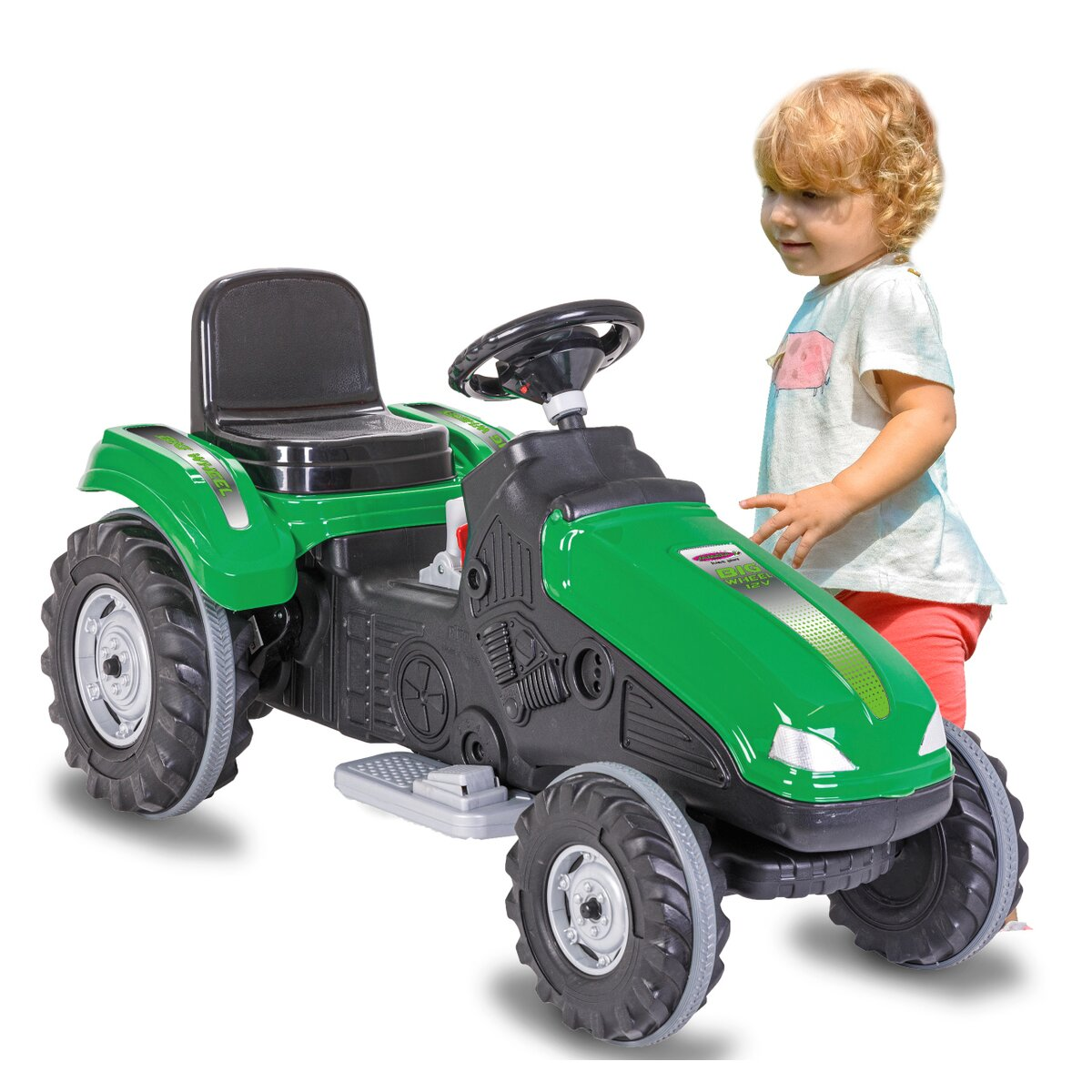 Jamara Ride-on Traktor Big Wheel 12V zelený