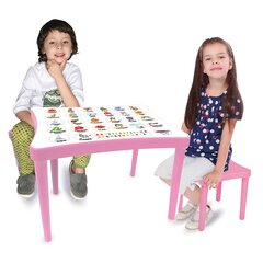 Childrens Seat group Easy Learning 3 parts pink