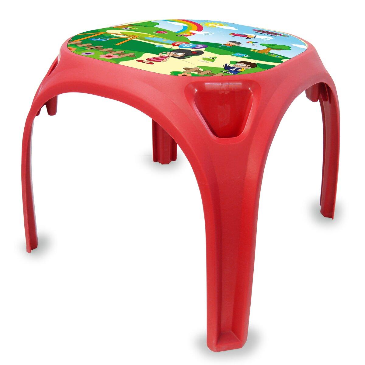 Kindertisch Zahlenspaß XL rot