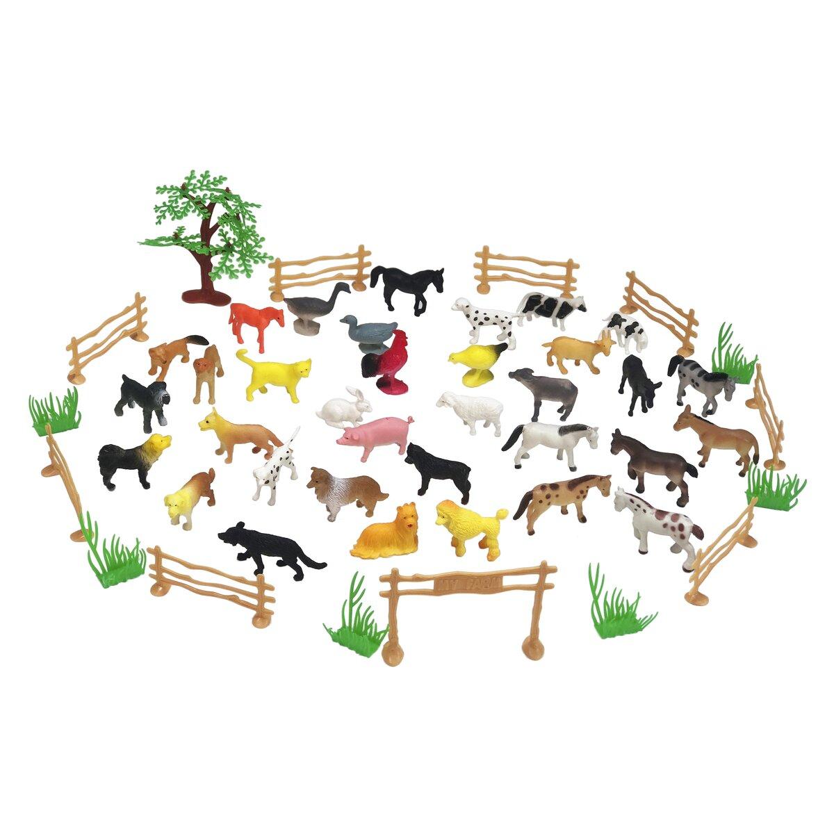 Jamara Set zvířat z farmy 50 ks