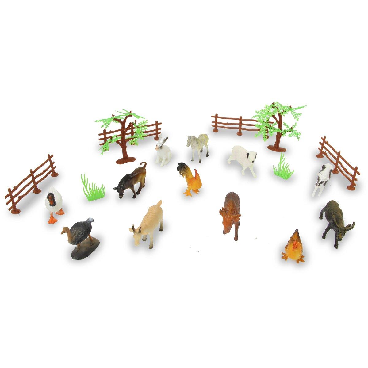 Jamara Set zvířat z farmy 20 ks