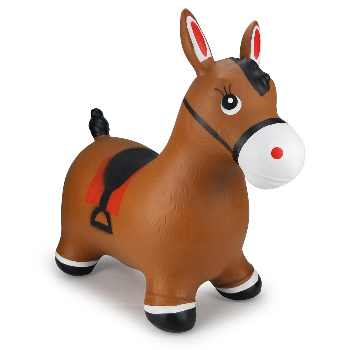 Robust and Durable Easy to Clean Jamara 460543 Lama Bouncy Toy Brown with Pump-up to 50 kg-Promotes Balance and Motor Skills