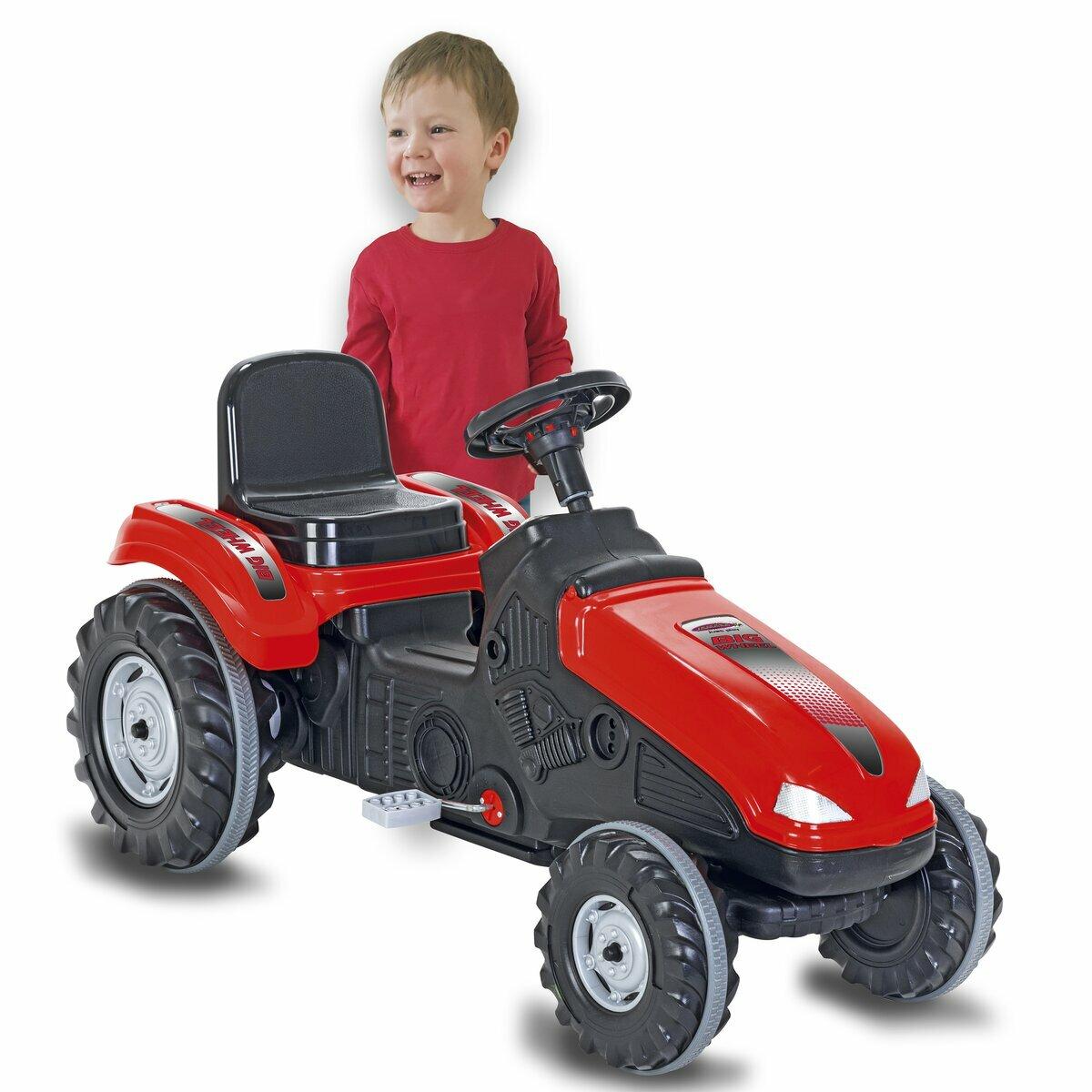 Jamara Šlapací traktor Big Wheel červený