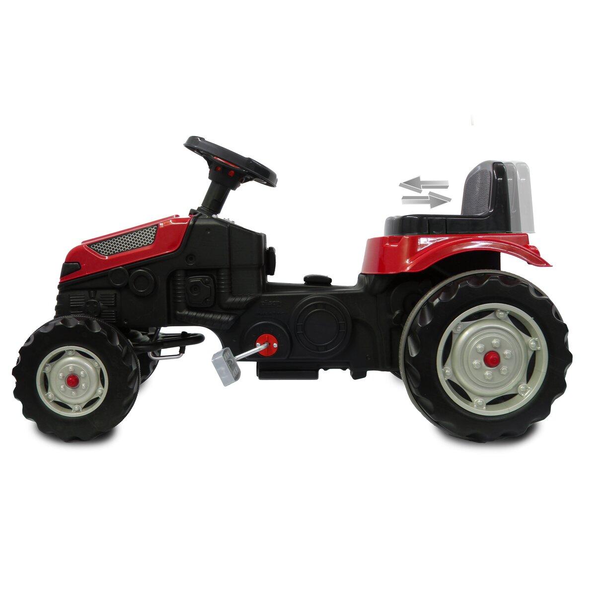 Jamara Šlapací traktor Strong Bull s přívěsem červený