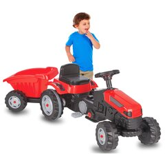 Pedal tractor with trailer Strong Bull red