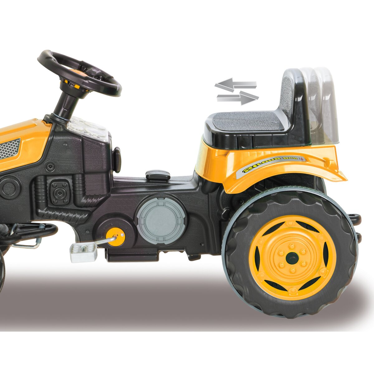 Jamara Šlapací traktor Strong Bull se lžící žlutý