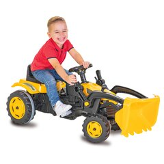 Pedal tractor with loader Strong Bull yellow