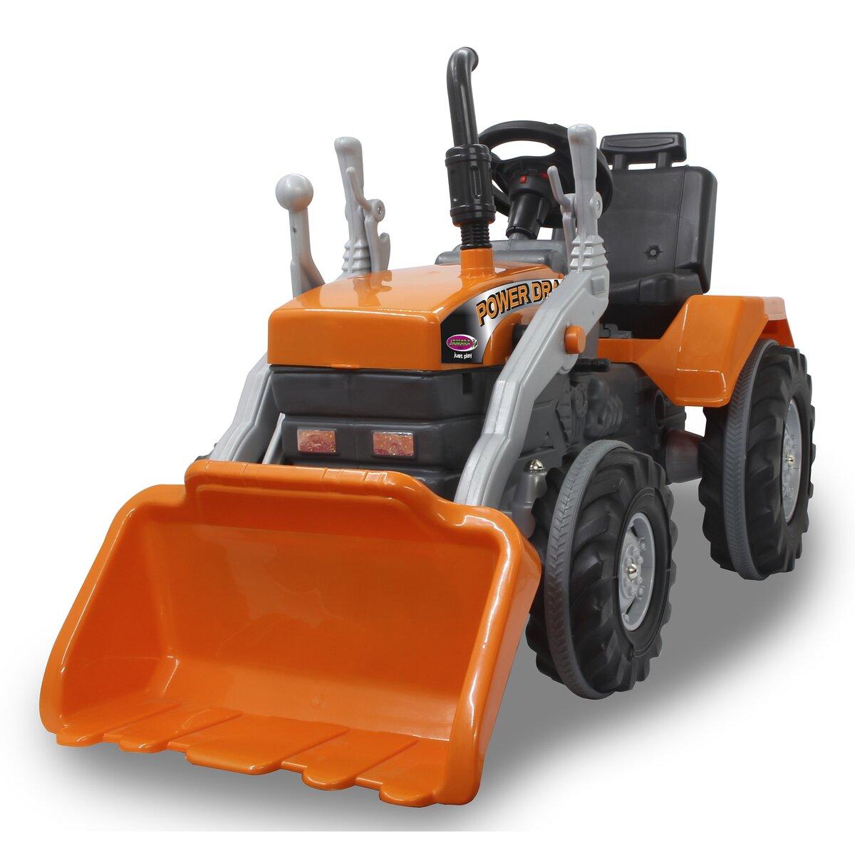 Jamara Šlapací traktor Power Drag se lžící oranžový