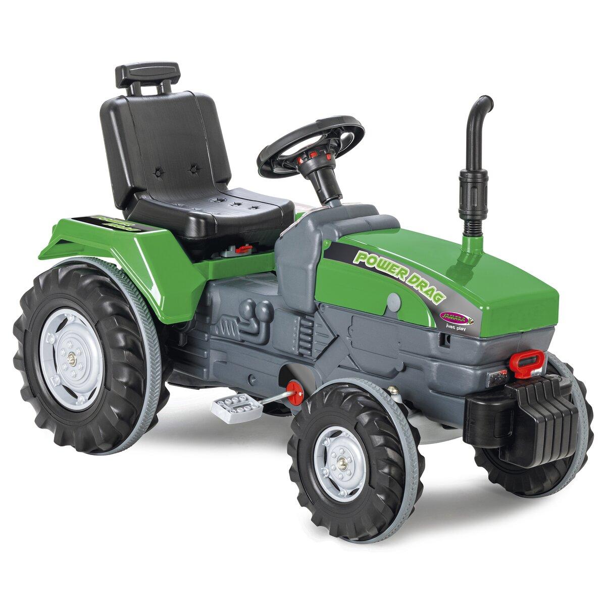 Jamara Šlapací traktor Power Drag zelený