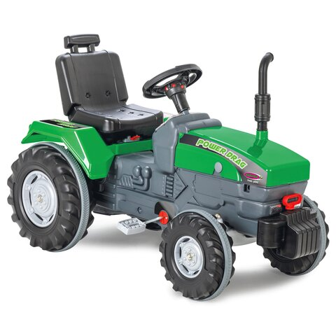 Pedal tractor Power Drag green