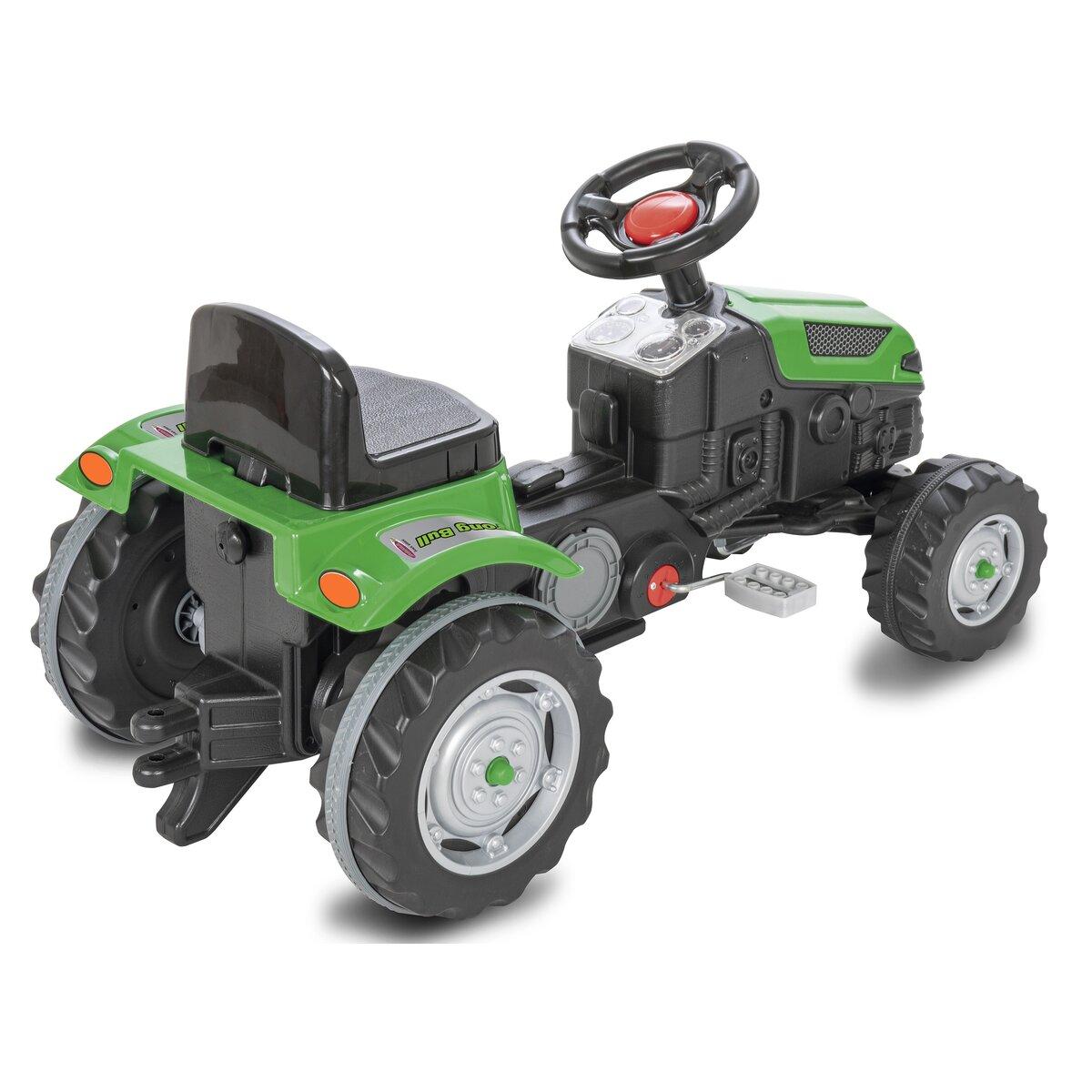 Jamara Šlapací traktor Strong Bull zelený