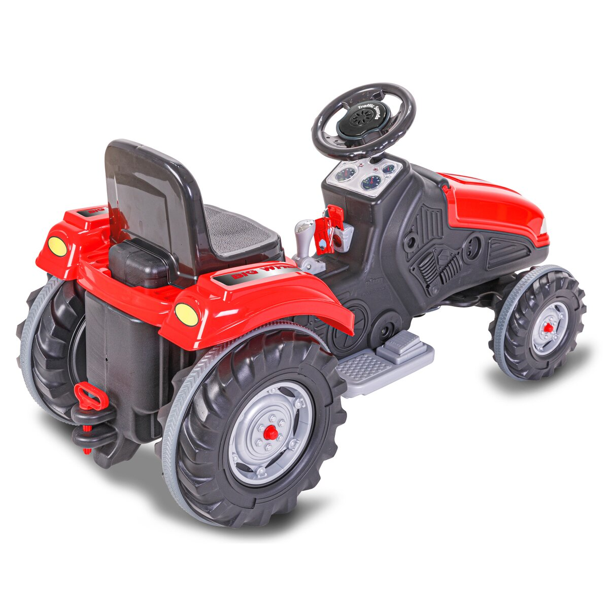 Jamara Ride-on Traktor Big Wheel 12V červený