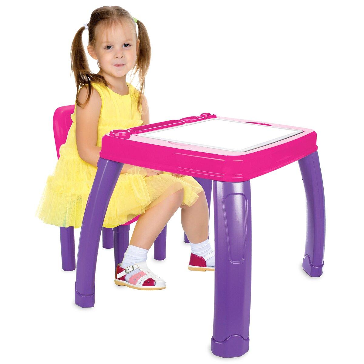 Jamara Set stůl se židlí - Lets Study růžový