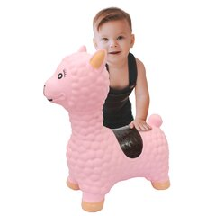 Jumping Animal Bouncer Lama pink with pump