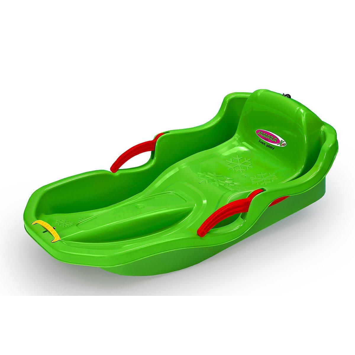 Jamara Sněžný bob s brzdami zelený
