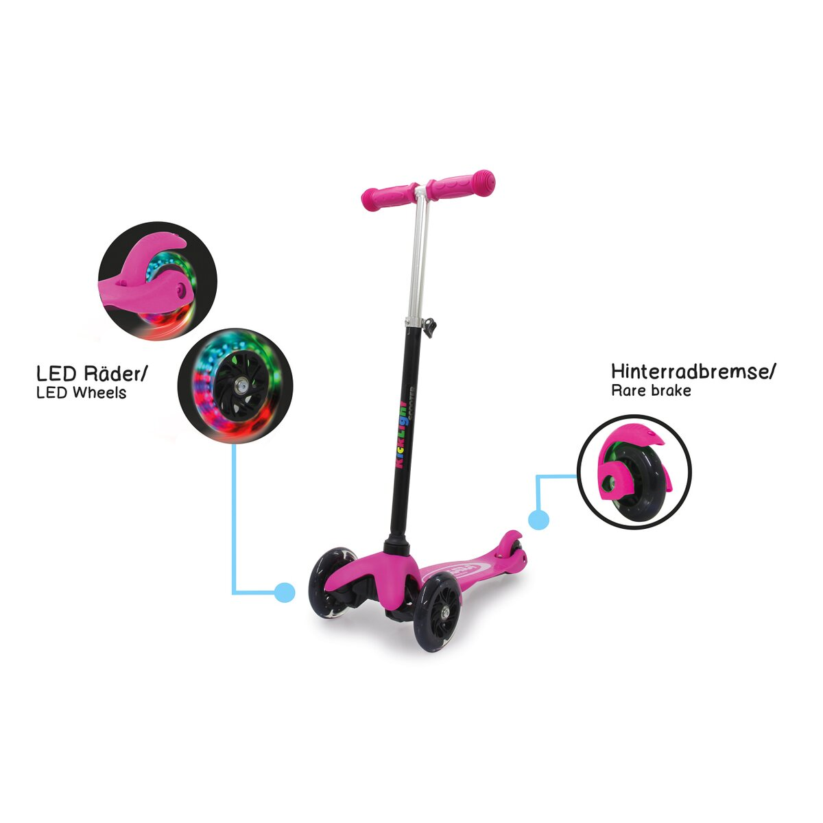 Jamara KickLight Scooter pink