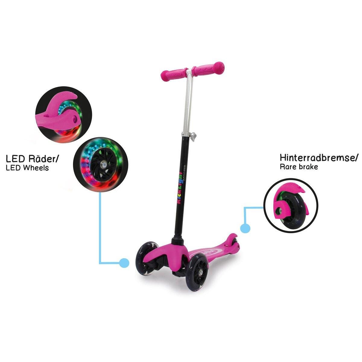 KickLight Scooter pink