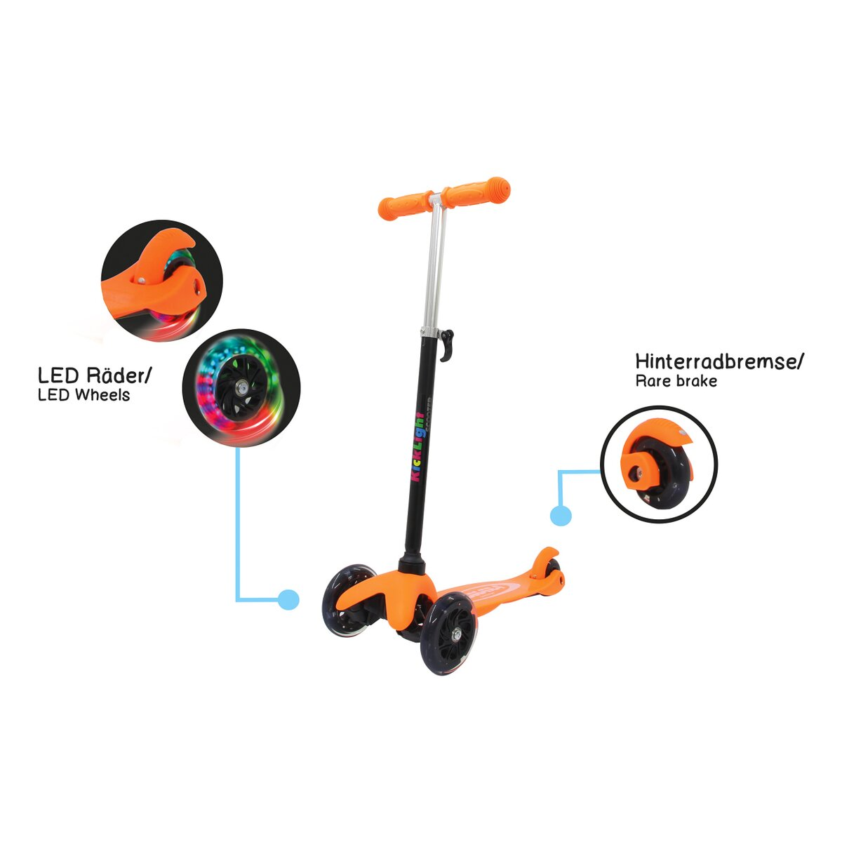 Jamara KickLight Scooter orange