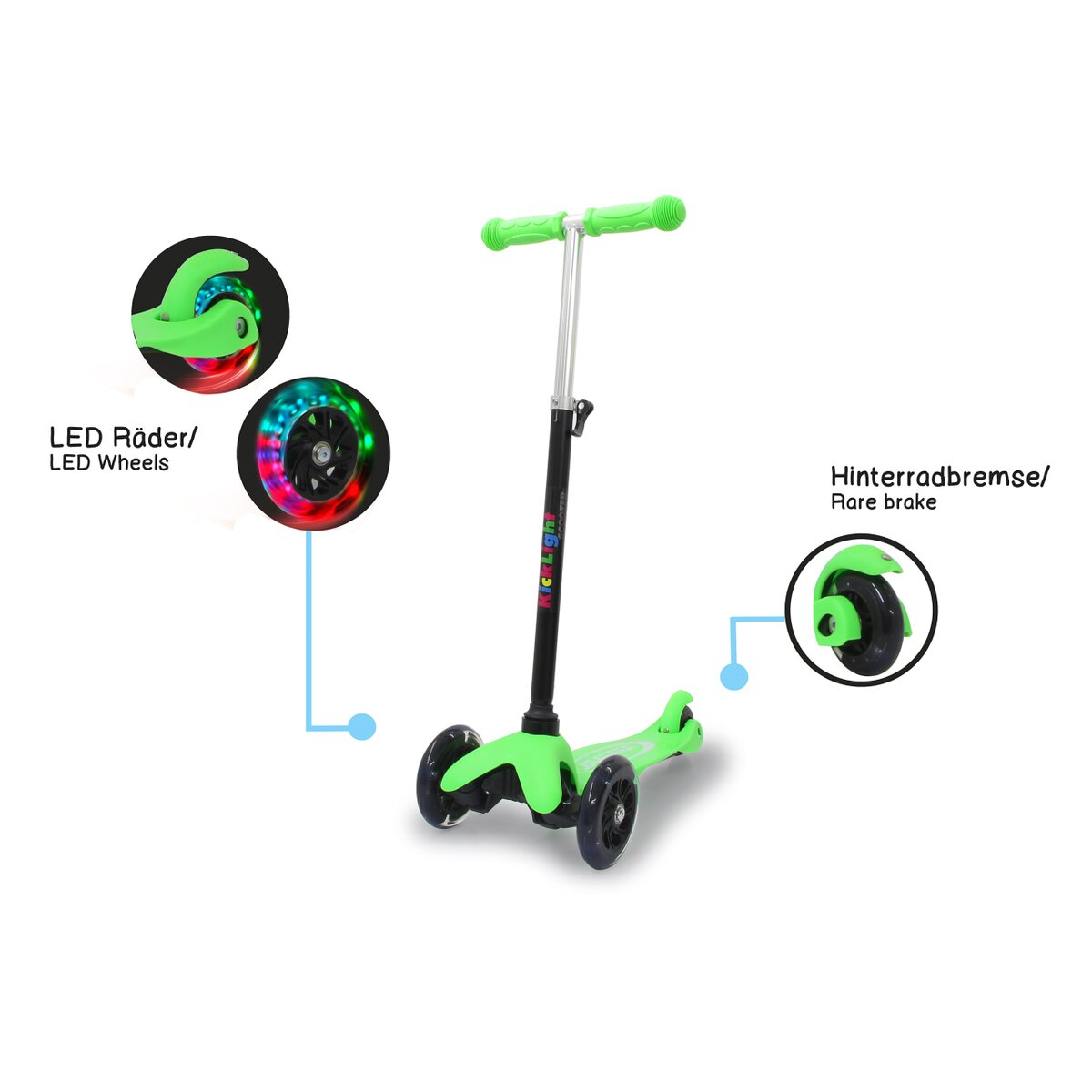 Jamara KickLight Scooter green