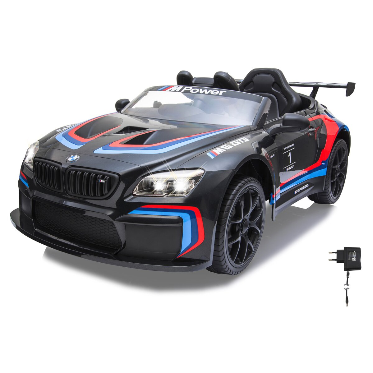 Ride-on BMW M6 GT3 schwarz