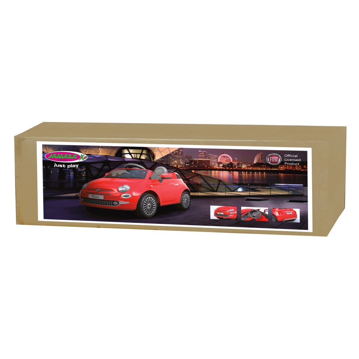 Jamara Ride-on Fiat 500 červený 12V