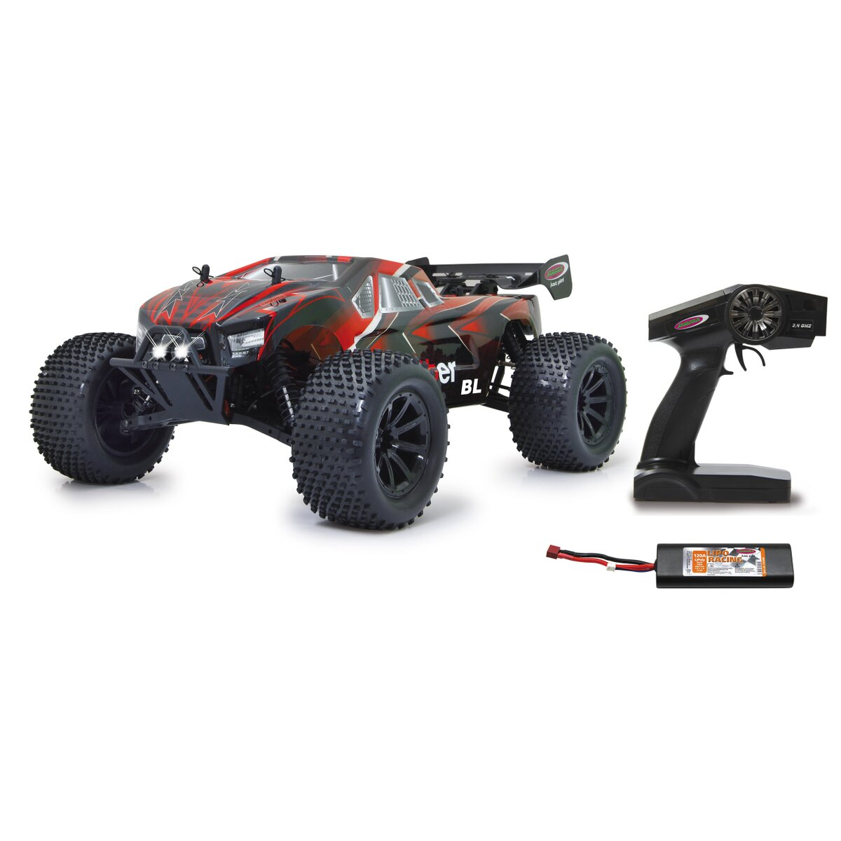 Brecter Truggy BL 4WD 1:10 Lipo 2,4GHz mit LED
