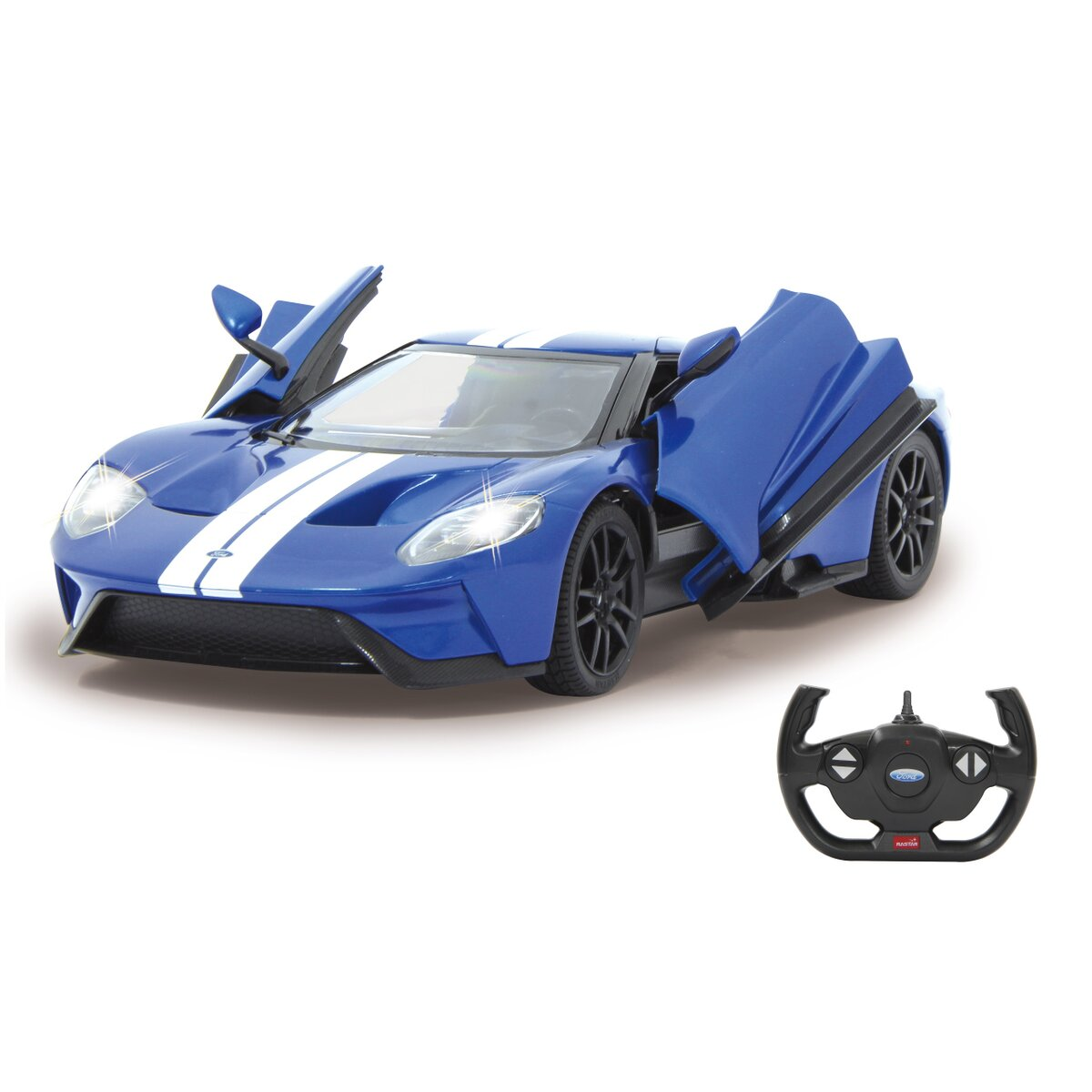 Jamara Ford GT 1:14 modrý s manuálními dveřmi