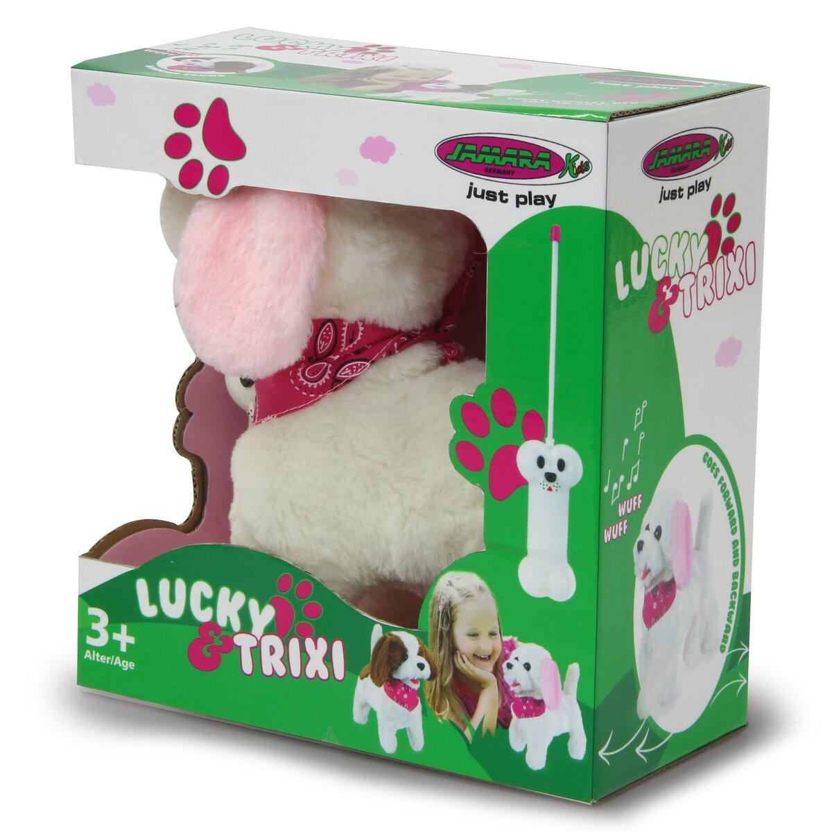 Jamara plyšový pes, bílo-růžový na dálkové ovládání
