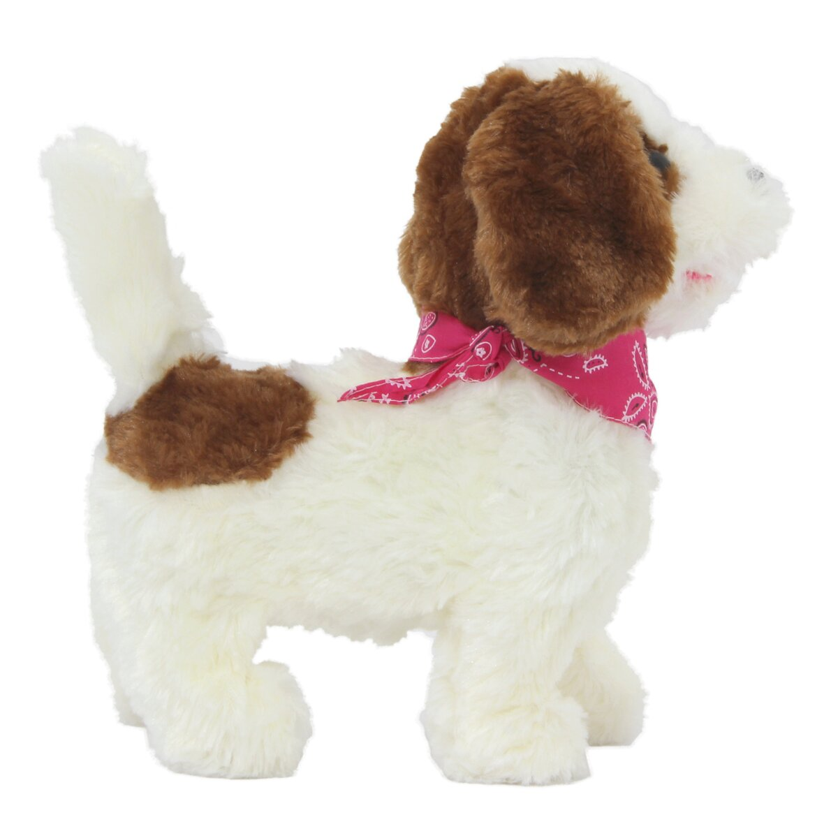 Jamara plyšový pes, bílo-hnědý na dálkové ovládání