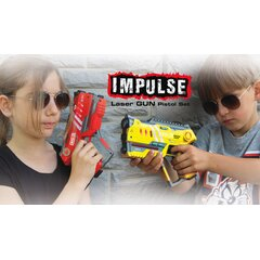 Impulse Laser Gun Pistol Set gelb/rot