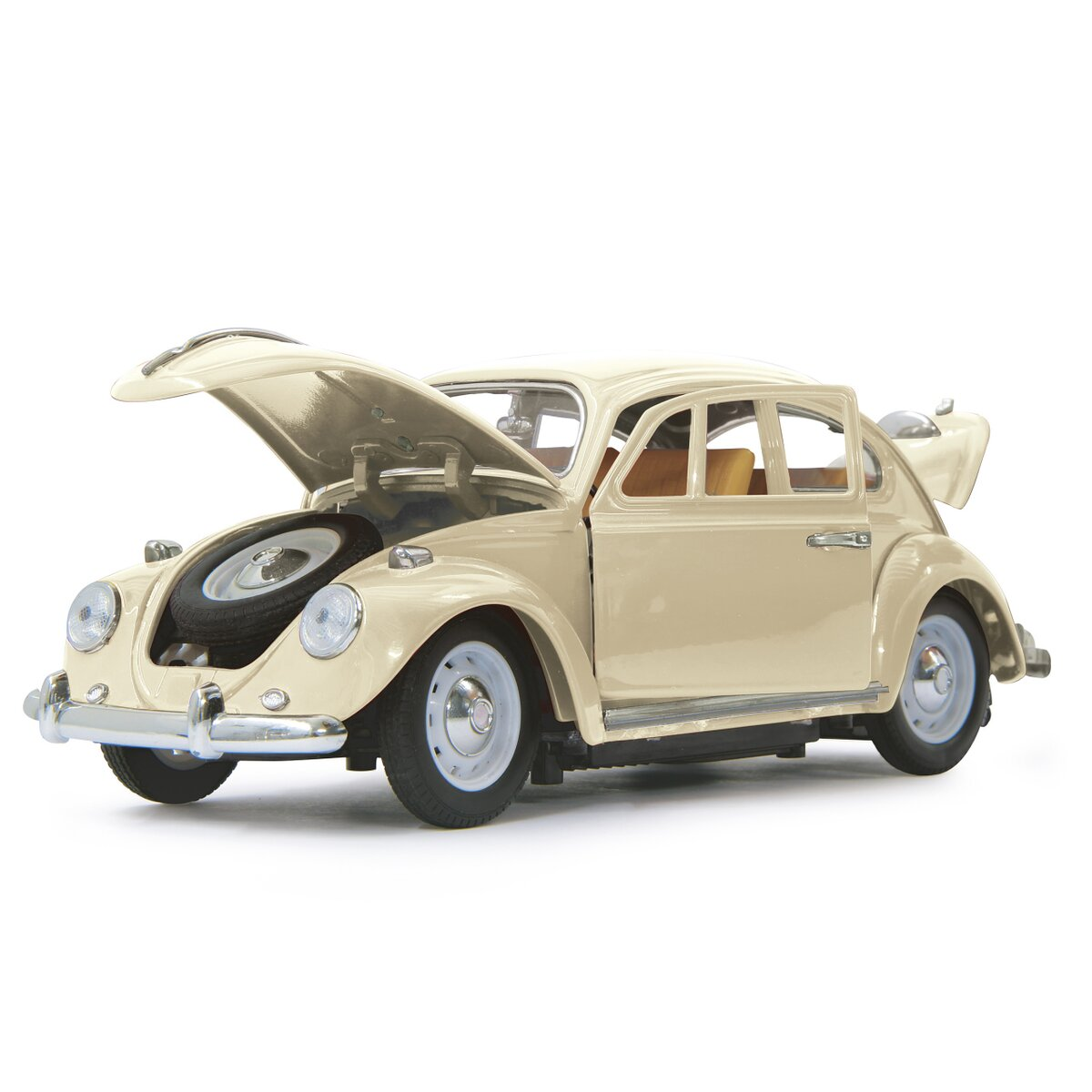 Jamara VW Beatle 1:18 RC Die Cast krémově bílý 40MHz